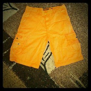 Ecko Unlimited orange cargo shorts